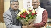 मुख्यमंत्री ने नई दिल्ली में रवि शंकर प्रसाद से भेंट किया