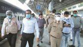 432 प्रवासियों को लेकर रवाना हुई ट्रेन, जिलाधिकारी रेलवे स्टेशन का जायजा लिया
