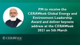 CERAWeek Global Energy and Environment Leadership Award to PM Modi